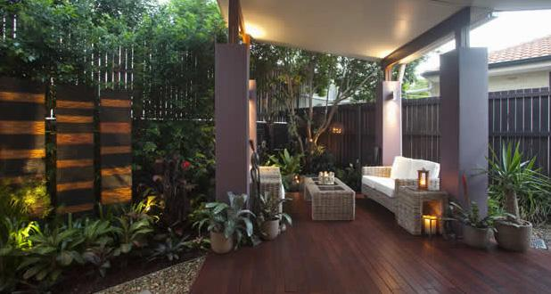 Style ideas patios outdoor rooms room landscape for Qld garden design ideas