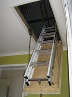 Aluminium Sliding Ceiling Ladder