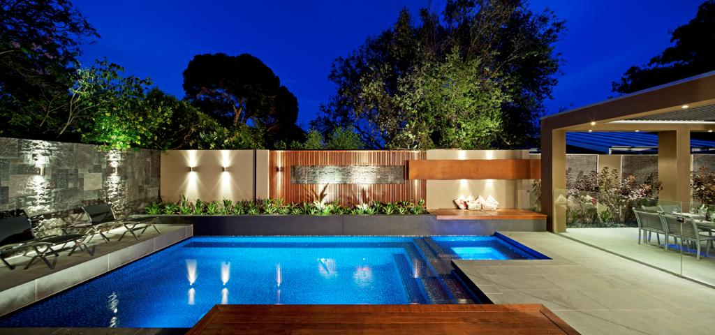 Pool designs pool lights pools spas spaces and for Pool design ideas australia