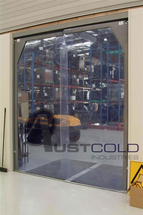 Clear Pvc Swing Doors By Austcold Industries Galleries