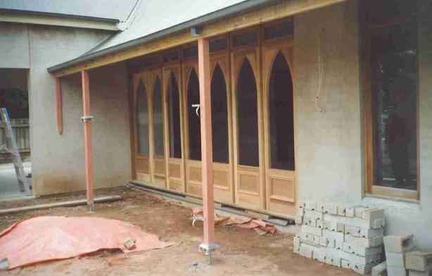 Gothic arch bi-fold doors
