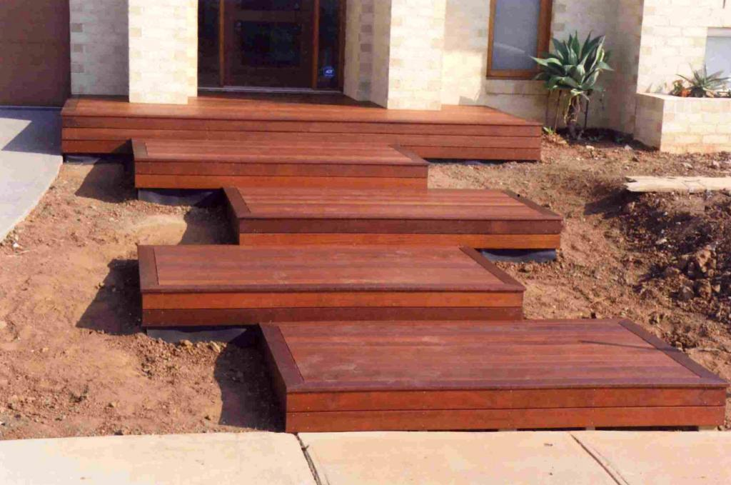Timber decks inspiration features in timber australia for Timber deck construction