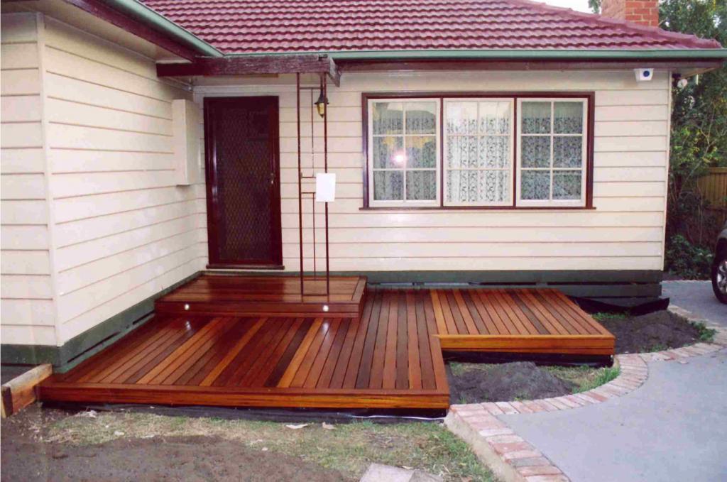 Deck ideas timber decks entrance decks features in for Front porch designs australia