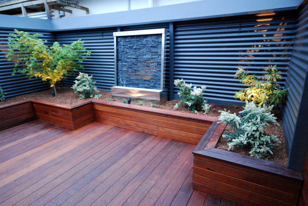 1000 images about garden deck landscaping on for Images of garden decking