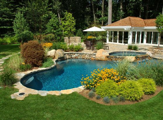 swimming pool designs by g r pools spas - Swimming Pool Landscape Designs