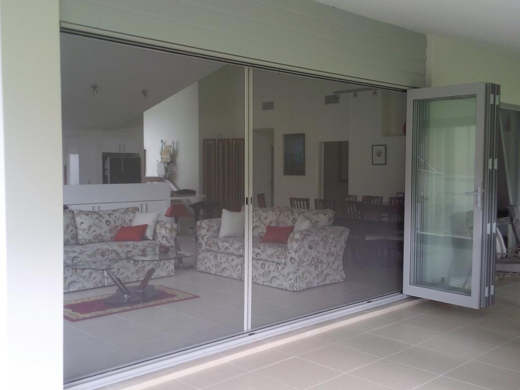 Retractable blinds for french doors glass bi folds for Retractable screens for bifold doors