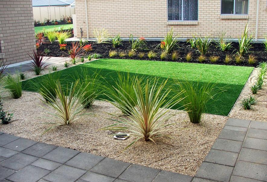 Front garden gardens landscaping xtreme scapes for Garden bed ideas for front of house australia