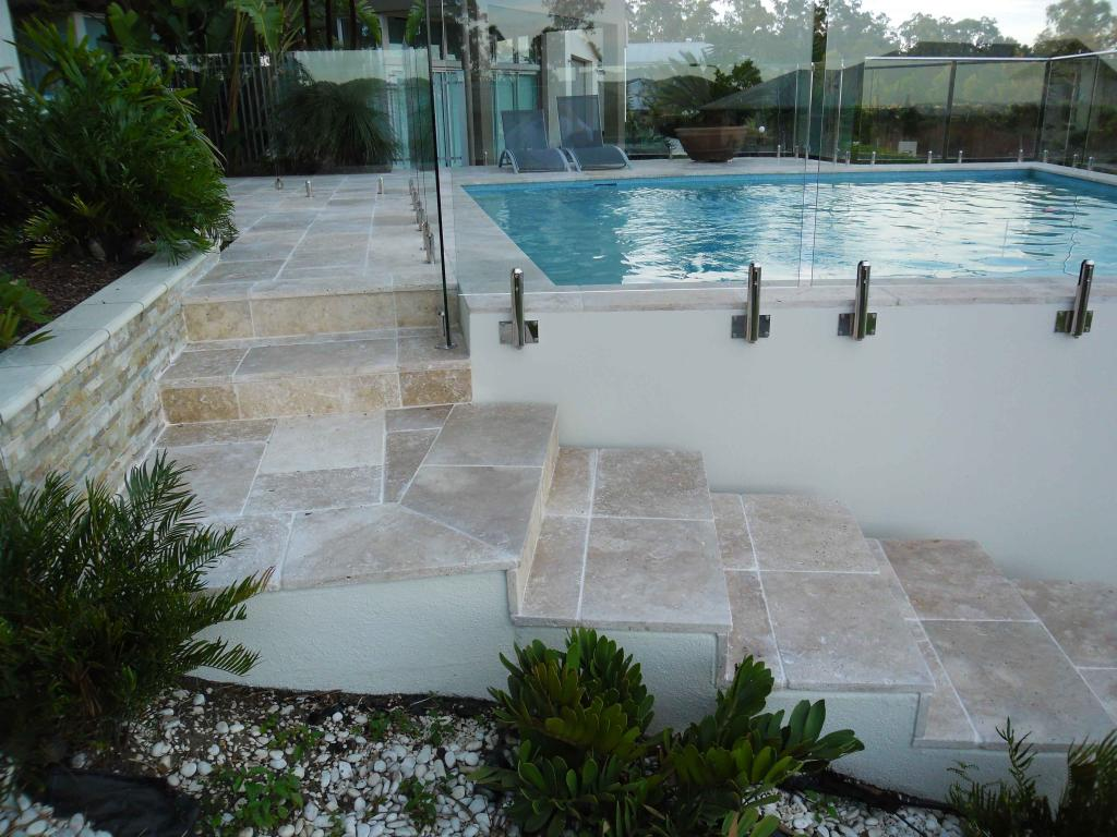 Outdoor Tile Natural Stone : Travertine tiles floor kitchen and wall rms