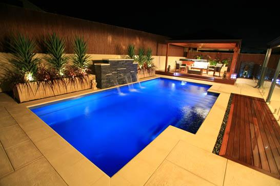 Pool design ideas get inspired by photos of pools from for Pool design by poolside
