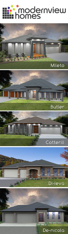 Single storey modernview homes for Modernview homes