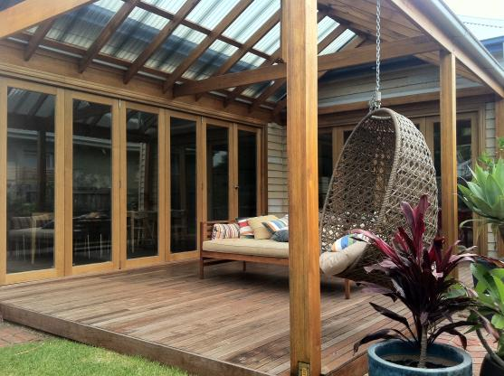 Timber deck design ideas get inspired by photos of for Outside decking material