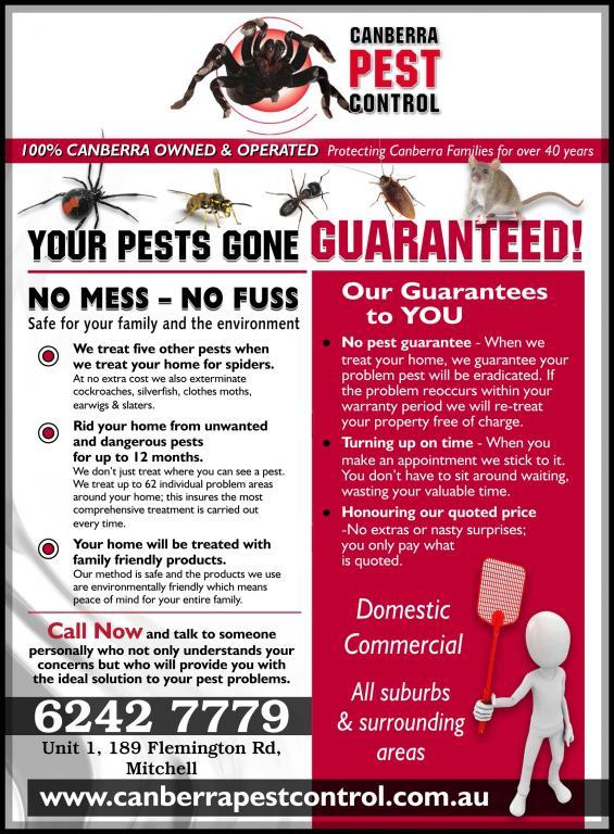 Canberra Pest Control Mitchell Australian Capital
