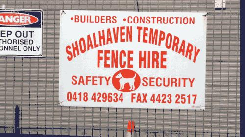 Shoalhaven Temporary Fencing Hire Nowra New South Wales
