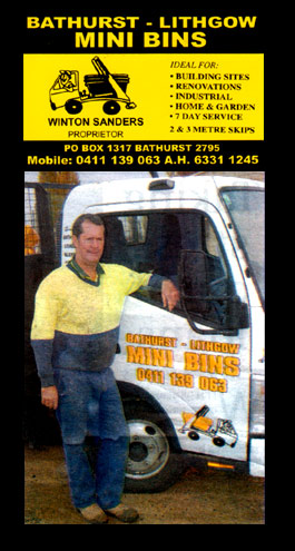 Bathurst Lithgow Mini Bins Bathurst New South Wales Winton Sanders 1 R