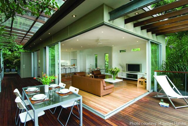 10 best indoor outdoor spaces Home plans with outdoor living