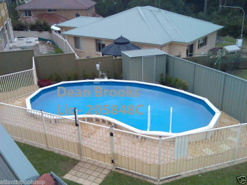 Semi inground above ground swimming pools for Above ground pool kits