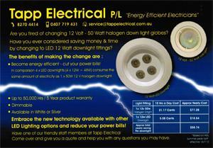 Tapp Electrical Services Aberfoyle Park South Australia