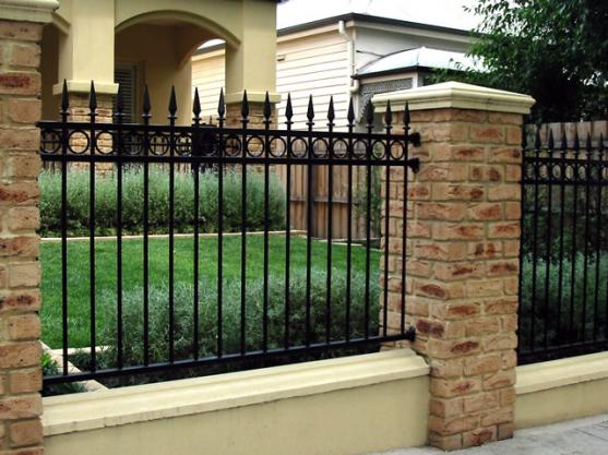 fence designs by shieldguard security doors gates - Brick Wall Fence Designs