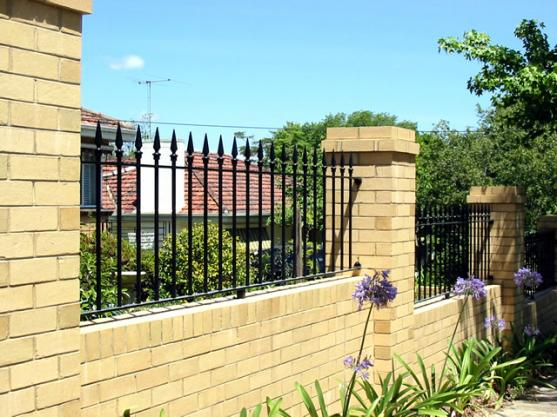 Brick Fencing Designs by Shieldguard Security Doors Gates