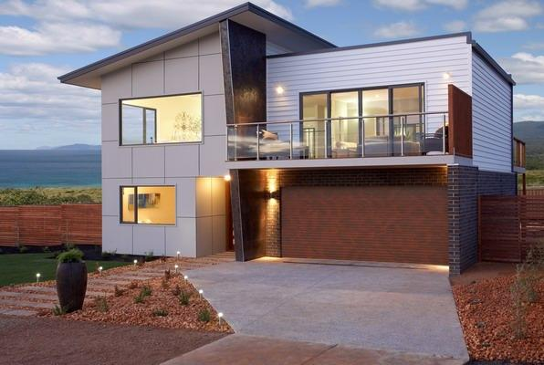 Exterior exteriors home designs double storey brad for Beach house designs western australia