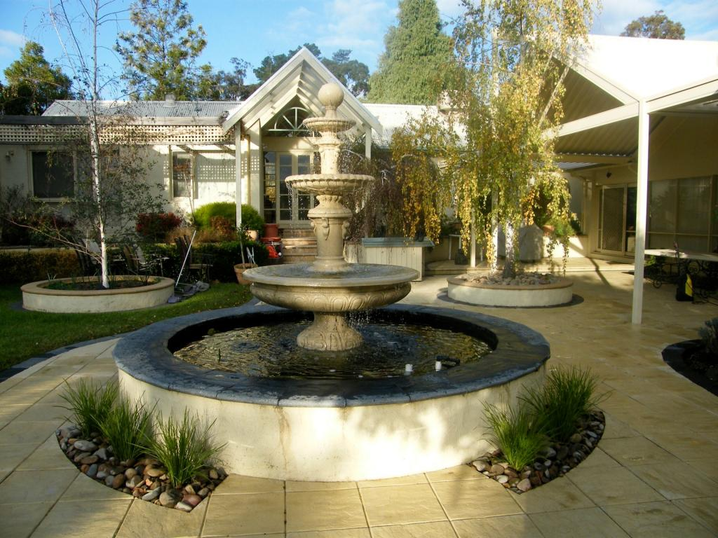 Water features inspiration sacred garden australia for Garden fountains and water features