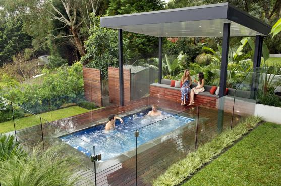 Plunge pool design ideas get inspired by photos of for Jacuzzi enterre exterieur
