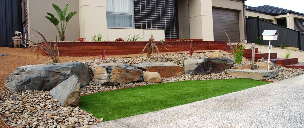 Front garden landscaping affordable scapes australia for Front garden designs australia