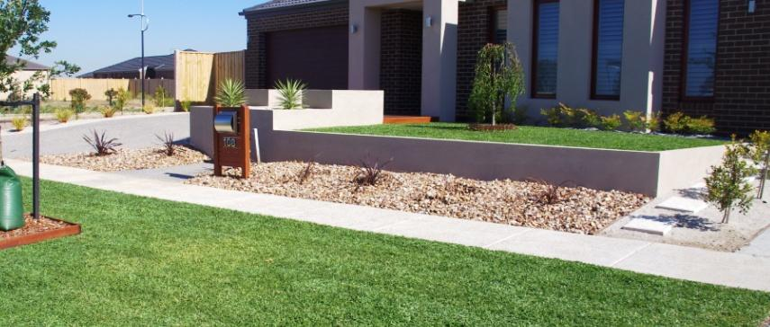 Front garden gardens landscaping affordable scapes for Modern front garden ideas australia