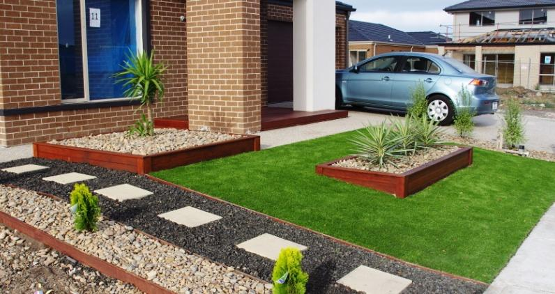 Gardens inspiration affordable scapes australia for Garden bed ideas for front of house australia