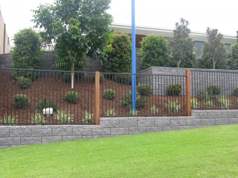 Fences inspiration fences r us australia for Pool fence design qld