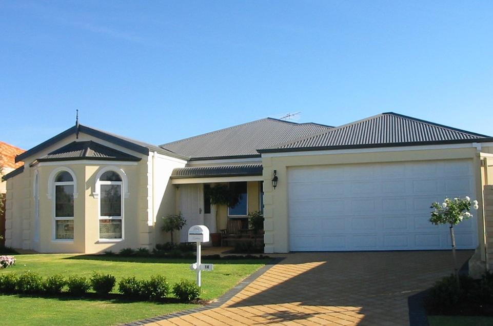 My dream home exteriors single storey house designs for Tuscan style homes australia