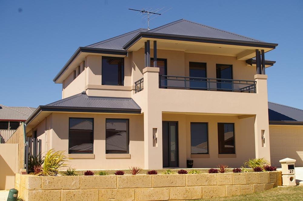 Exterior Colour Exteriors Double Storey House Designs