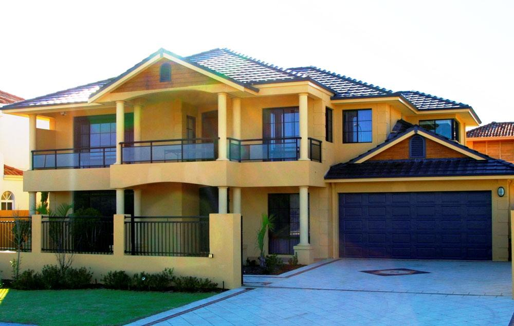 Exterior colour exteriors double storey house designs for Home plans australia