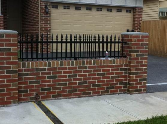 brick fencing designs by pioneer steelworks - Brick Wall Fence Designs