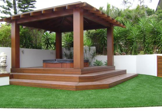 Gazebo Design Ideas by GROUNDABILITY Synthetic Grass Professionals