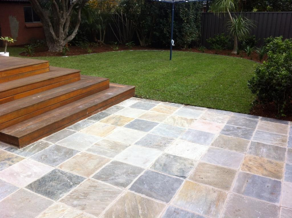 Paving inspiration ben bylett landscapes australia for Paving designs for small gardens