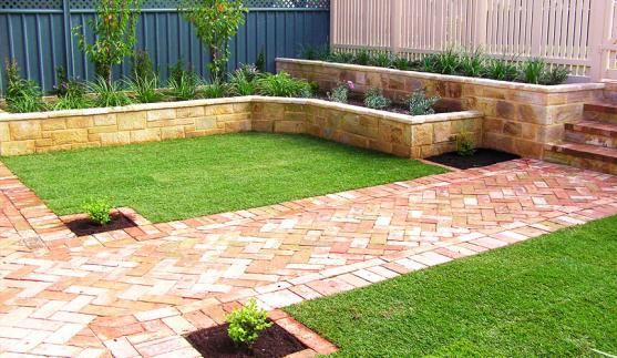 Retaining wall design ideas get inspired by photos of for Back garden designs australia