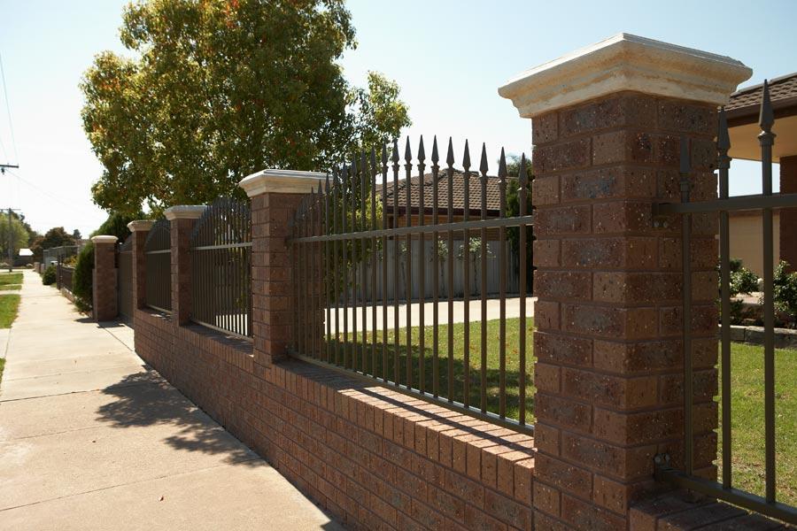 Fence Brick Wall Design : Fences inspiration shepp city fencing australia