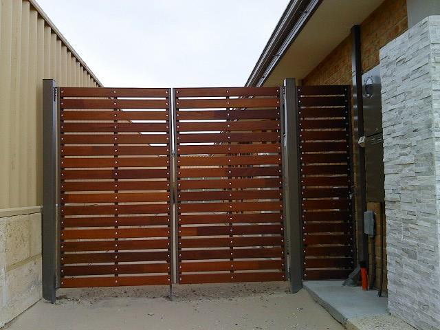 Steel Framed Jarrah Gates Galleries Gates Of Bunbury