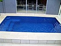 Swimming pools plunge pool above ground semi inground pools sydney metro wollongong central for Swimming pools central coast nsw