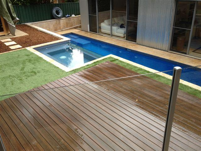 Style ideas timber decks pool surrounds lewis for Pool surround ideas