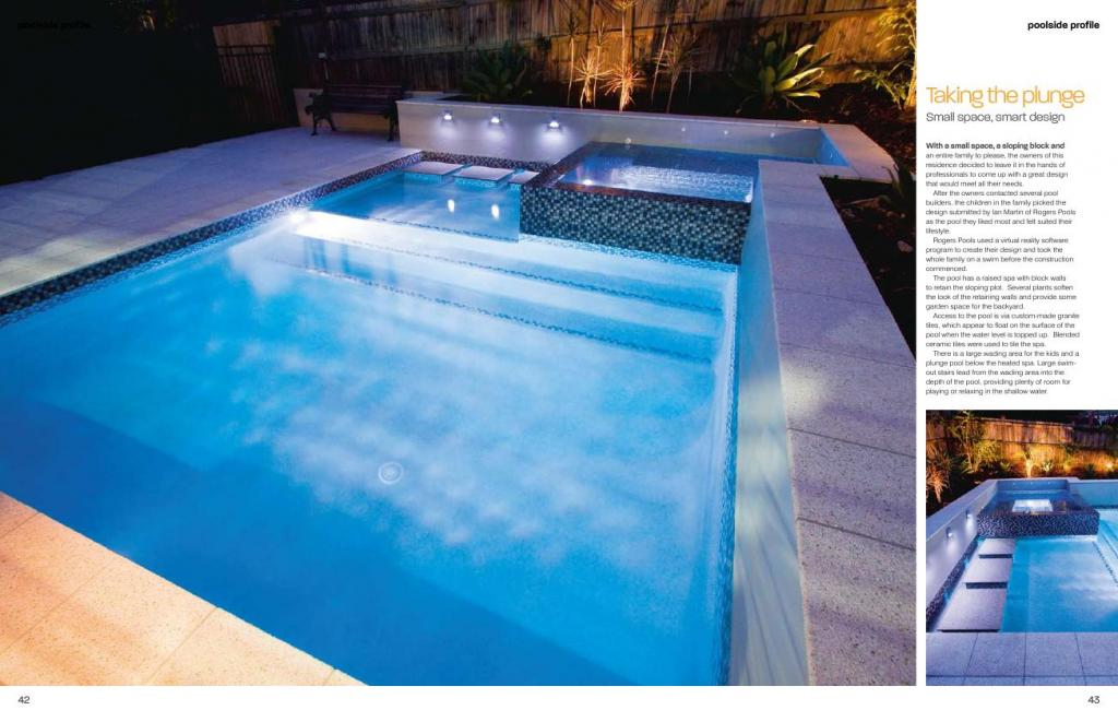 Pools inspiration rogers pools australia for Inspiration pool cleaner