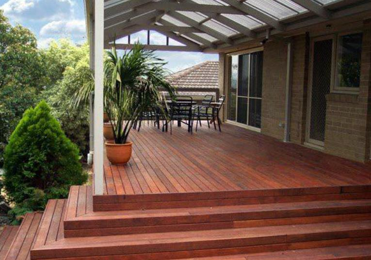 Style ideas elevated decking verandahs decking for Rooftop deck design ideas