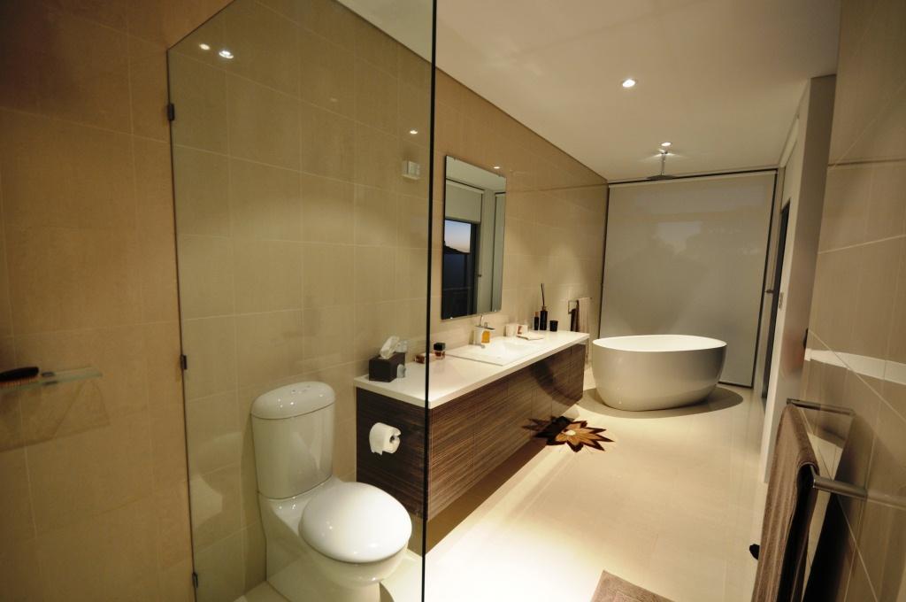 Bathrooms inspiration abel ling architect australia for Bathroom decor riverton