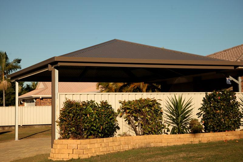 Get inspired by photos of carports from australian for Hip roof carport plans