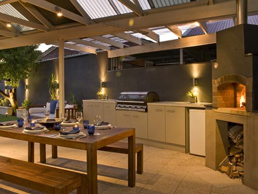 Outdoor kitchen design ideas get inspired by photos of for Backyard kitchen design ideas