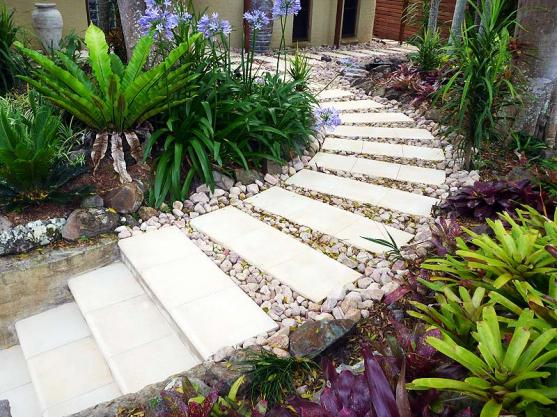 garden path design ideas by sf landscapes coffs harbour - Garden Path Ideas