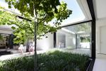 Interior courtyard boasts plenty of natural light with greenery.
