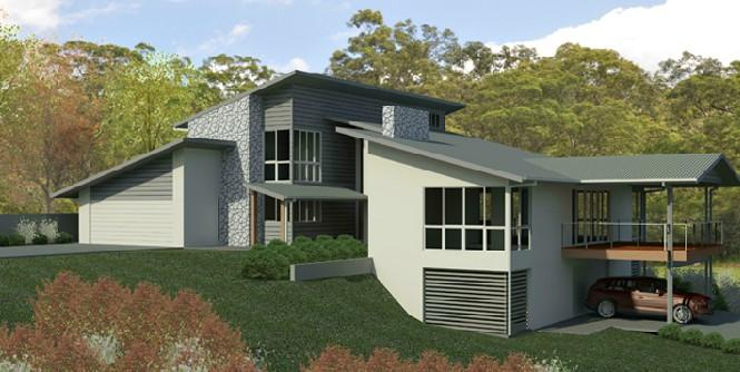 Design gallery tony james building design for Split level house designs