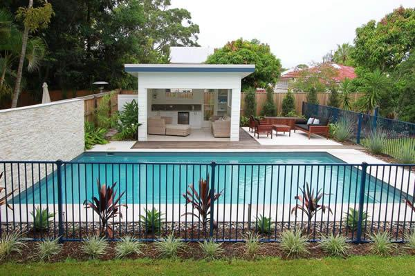 Swimming pool landscaping galleries aesthetic landscapes for Pool design ideas australia